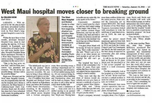 The West Maui Hospital_01162016 - blog